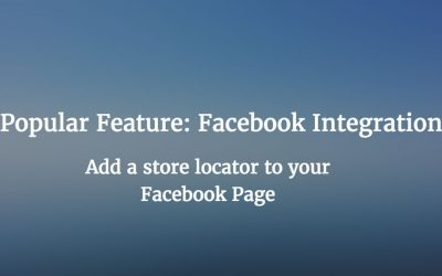 Popular Feature: Facebook Pages Store Locator
