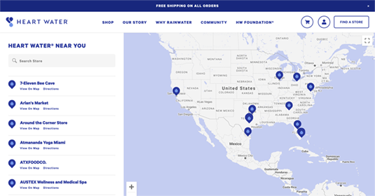 Squarespace store finder