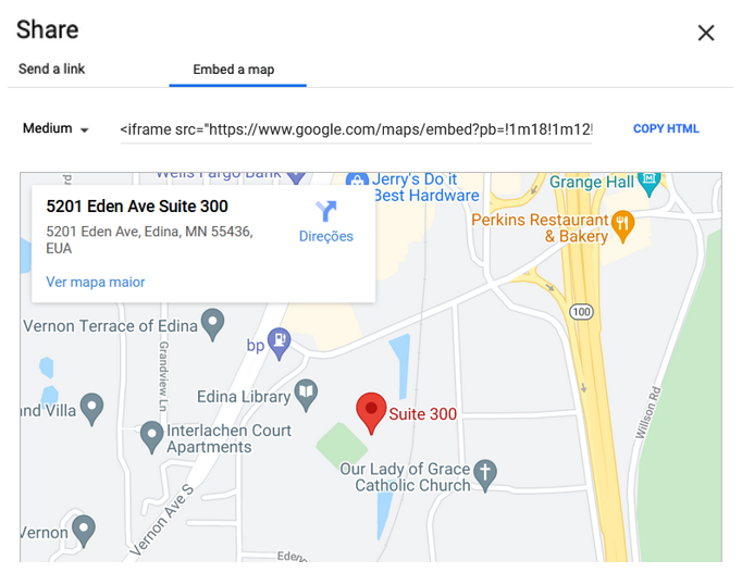 Embed Google Map to Shopify
